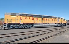 Centennials: Name given to Union Pacific's EMD DDA40X locomotives. World's most powerful diesel locomotives, delivered in 1969, the year of Union Pacific's centennial.[
