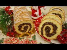 Ekspresowy makowiec zawijany | Strucla makowa w cieście biszkoptowym - YouTube Sushi, Pancakes, Ale, Cookies, Baking, Breakfast, Ethnic Recipes, Christmas, Food