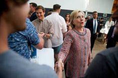 Hillary Clinton trounces Donald Trump in poll of seven swing states