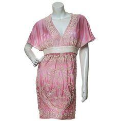 Tie-Dye Hand Embroidery Dress | Strandofsilk.com - Indian Designers via Polyvore