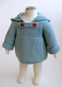 Baby Cardigan pattern. Zips up the back for easy-on