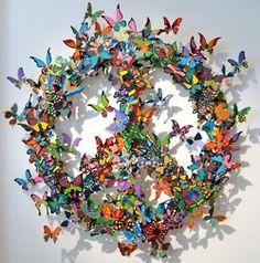 butterfly peace wreath