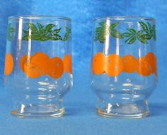 fancy juice glasses we weren't allowed to use