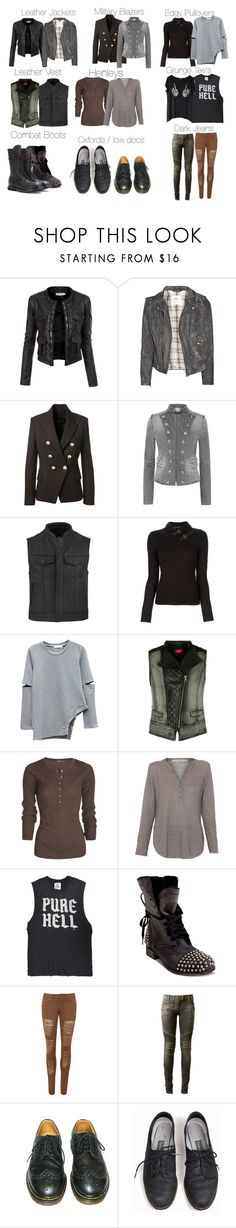 """Klaus Mikaelson Basics / Essentials"" by shadyannon ❤ liked on Polyvore featuring Doublju, MiH Jeans, Balmain, Pierre Balmain, SOA, Ralph Lauren Black Label, s.Oliver, Vince, Belford and UNIF"