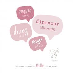 Personalised 'My First Words' Nursery Art Print - Unique Baby Gifts - Hello Daisy Baby Prints, Nursery Prints, Nursery Art, Unisex Baby Gifts, Personalized Baby Gifts, Baby Gift Wrapping, One Word, Special Gifts, Drinking