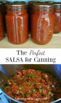 Learn how to make an easy and flavorful salsa for canning that's safe, uses all-natural ingredients, and is thicker than typical canned salsas.