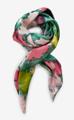 Balenciaga Pink, Green And Multicolor Scarf