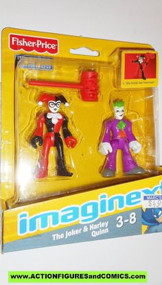 2Pcs Fisher-Price Imaginext DC Super Friends joker /& blue batman figure collect
