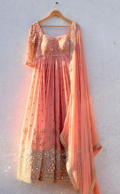 Peach Anisha Shetty Anarkali. Click on picture to see price. #Frugal2Fab