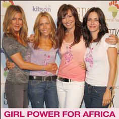 "2009 Jennifer Aniston, Sheryl Crow, Founder Mary Fanaro and Courteney Cox Lend Support to Congo for the launch of ""Stamp Out Violence Against Women and Girls of the Congo"""