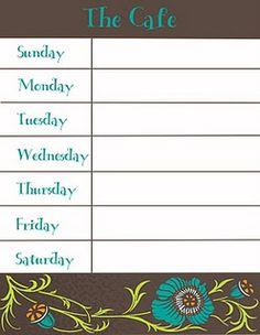 Weekly Menu Planners