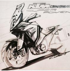 Craig Dent KTM designer 1290 Super Adventure sketch concept