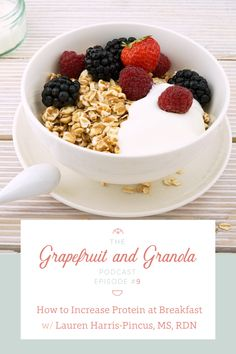 Tips for Adding Protein to Breakfast: most people get enough protein as a whole but they don't do a good job of distributing it throughout the day- especially at breakfast. Since our bodies can only absorb so much protein at one time, the rest gets wasted. Consuming enough protein at breakfast sets our bodies up for success throughout the day. This post explains why protein at breakfast is important and gives tips about how you can increase protein with your breakfast!