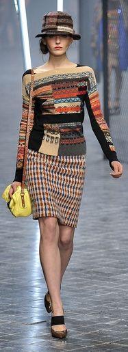 Sonia Rykiel--this totally works, though Ms. Frizzle would wear it before I'd ever put it on!