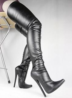 free shipping, $99.5/pair:buy wholesale  black matt pu sexy fetish pointed toe stiletto long boots 18cm extreme high heels large size over the knee thigh high boots bdsm crotch boot pu,over-the-knee,rubber on skyshoes's Store from DHgate.com, get worldwide delivery and buyer protection service.