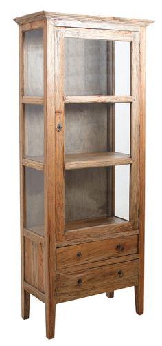 Armoire en bois et verre