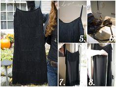 7. Fringe Dress - 10 Fantastic Flapper Fashion DIY Projects ... | All Women Stalk