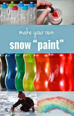 Helping Kids Grow Up: How To Make Super Easy Snow Paint