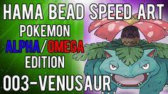 Pokemon | Alpha/Omega | Hama Bead Speed Art | Timelapse | 003 - Venusaur