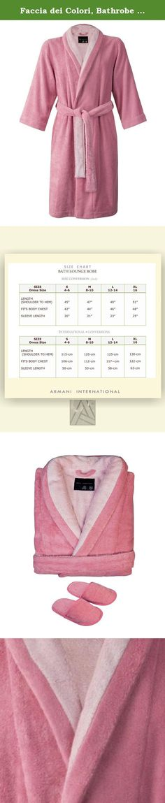 Faccia dei Colori, Bathrobe Slippers Medium Bi-face Rose-Misty Rose. Faccia die colori collection by Armani International takes you through an elegant and luxurious universe of colors. Faccia die Colori Line is in European double yarn ring spun cotton terry waved in sophisticated bi-face technique is of high quality, highly absorbent, durable and soft with tailored craftsmanship. Carefully selected European fine quality yarns transformed into terry fabrics using traditional skills handed...