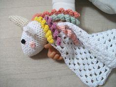 Ness Créative - Doudou licorne, crocheté main