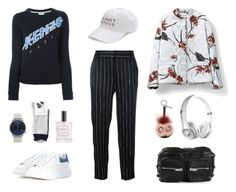 """349 - Sporty Everyday"" by caroline-mathilde ❤ liked on Polyvore featuring Alexander Wang, DKNY, Kenzo, Alexander McQueen, Sanders, Tromborg, Komono, Nasaseasons, Beats by Dr. Dre and Fendi"