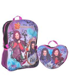 "Disney Descendants ""Mal & Evie"" Backpack with Lunchbox"