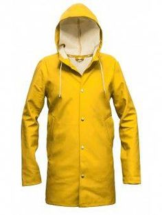 ad8e83e5fa2af STUTTERHEIM Stockholm Gul - The Rain Coat  raincoats Long Raincoat