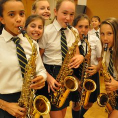 Saxophones at Junior School Arts Night