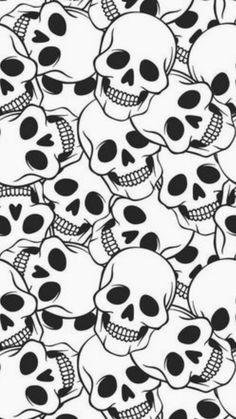 Caveira com flor, unhas pretas, tela de bloqueio, tela de fundo, papeis de Skull Wallpaper, Pattern Wallpaper, Wallpaper Backgrounds, Iphone Wallpaper, Wallpaper Caveira, Textures Patterns, Print Patterns, Skull Model, Overlays