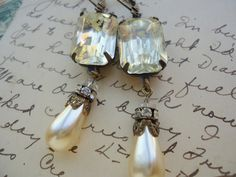 shabby chic, antique, bridal. assemblage jewelry by SacredCake on Etsy.