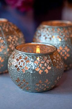 Light up the room with luminaries. These but with battery powered candles! :)