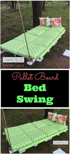 DIY Pallet Board Bed Swing tutorial!  You are going to LOVE this one!!!