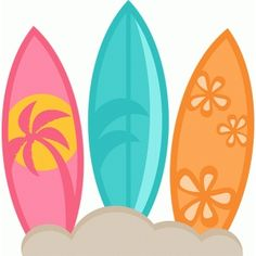 Surfboards SVG scrapbook cut file cute clipart files for silhouette cricut pazzles free svgs free svg cuts cute cut files Beach Clipart, Summer Clipart, Cute Clipart, Thema Hawaii, Clip Art, Topper, Cute Cuts, Luau Party, Love Images