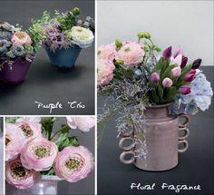 Nos gustan los tonos pastel...realizados con flores de bulbo que son las primeras en florecer y astilbe....las nuestras duran todo el año!!