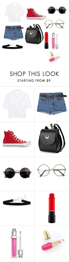 """Untitled #45"" by malena-serbo on Polyvore featuring T By Alexander Wang, Converse, Christian Dior and Winky Lux"