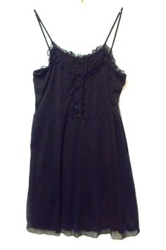 Plus Size Torrid Sexy black dress 22 3x Ruffles Past Knee Stretch sleeveless #Torrid #EmpireWaist #LittleBlackDress
