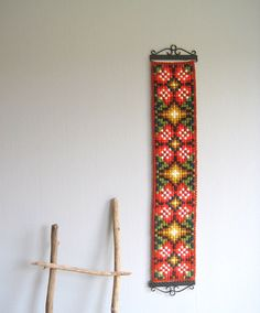 Norwegian Scandinavian Folk Art Klokkestreng by woolpleasure, $37.00
