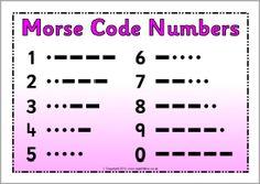 Morse Code number posters (SB9517) - SparkleBox