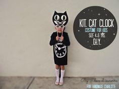 DIY Cat Clock Costume