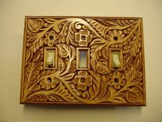 Decorative all hand carved triple electric by creativemind44, $42.00