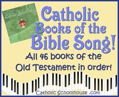 The ultimate list of Bible resources for Catholic kids- a song with all the Catholic books of the Bible, printable study sheets, printable books of the bible flash cards, printable Bible bookmark, and more. And it's all free!!!