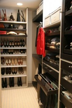 I love love the shoe shelves and the pant rack that pulls out.  Definitely things I'm trying to incorporate into my closet's design.