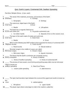 Worksheets Seafloor Spreading Worksheet 6th grade seafloor spreading worksheet teach science pinterest earths layers continental drift and quiz assess student knowledge of the