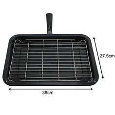 Spares2go Small Grill Pan Rack  Detachable Handle For Swan Oven Cookers -- Check out this great product by click affiliate link Amazon.com