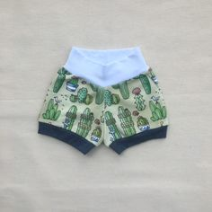 New arrival Nautical Cactus shorts shorties 100% organic cotton Made in the USA on Sale Sizes, 0-3m 6-12m 12-18m 18-24m Baby and Toddlers Boutique Wear