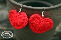 Small Heart Earrings Pattern - FREE