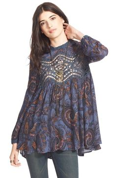 Free People 'Sweet' Printed Tunic available at #Nordstrom