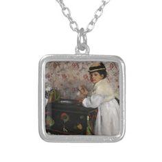 Portrait of Mlle Hortense Valpincon by Edgar Degas Custom Necklace