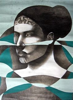 Pacific Traveller, 2007 [Water based Pencil & Acrylic Paint on Paper] Artist Collection, New Zealand.